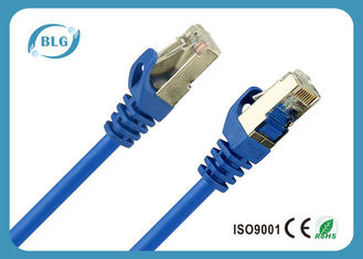 China O cabo protegido azul do remendo de Cat5e, 568B Cat5e protegeu o cabo do twisted pair fornecedor