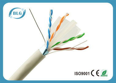 Jogo de OFC 1000 do PVC cabo ethernet/23AWG do ftp Cat6 FT de cinza do cabo ethernet