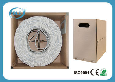 China Cobre puro resistente 1000/500FT do calibre 24AWG 26AWG de UTP Cat5e do fio do cabo do Internet dos ethernet fábrica