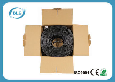 China 4 de LAN pares Unshielded de cobre desencapado do cabo Cat5e 305M, revestimento de PVC distribuidor