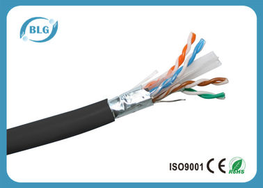 China Cabo interno protegido 1000FT da LAN do Ethernet do ftp do condutor 23AWG 24AWG de Cat6 distribuidor